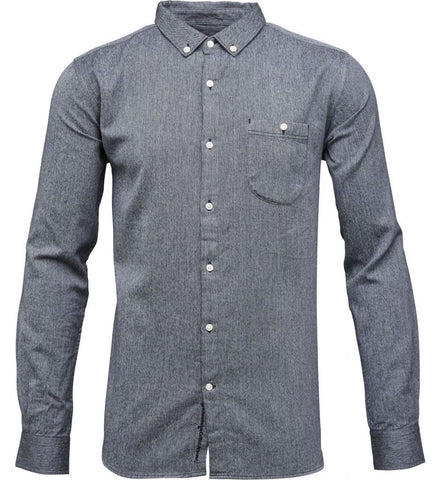 Melange Twill Shirt Total Eclipse