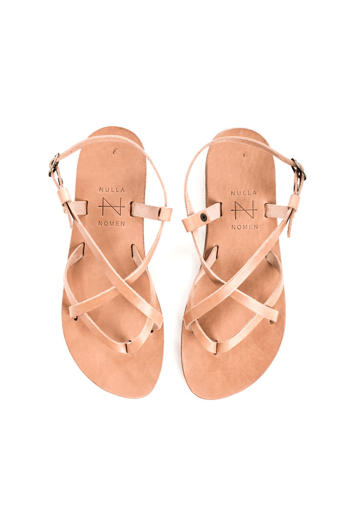 Strapped sandal natural from Charlie + Mary