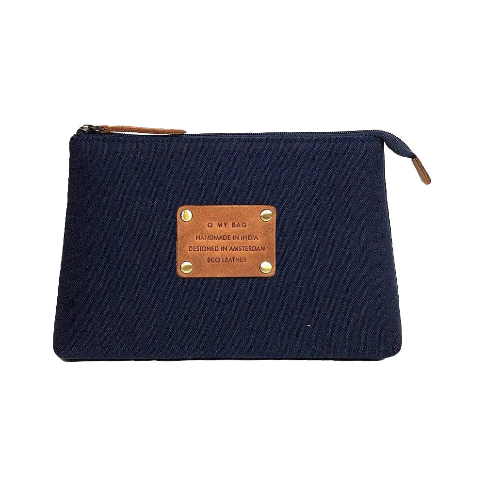 O My Bag Toiletry bag blue/camel organic cotton