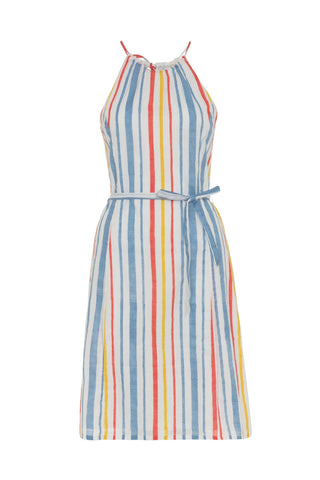 People Tree Bryony stripe dress multi coloured