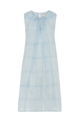 People Tree Block stripe dress blue