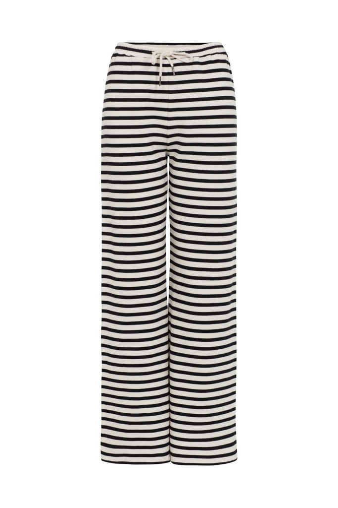 People Tree Alina stripe trousers black
