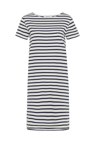 People Tree Nita stripe dress navy