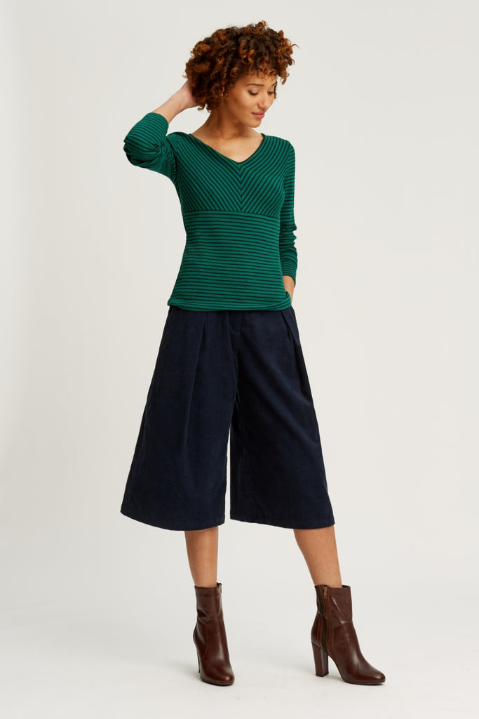 Janine corduroy culottes Navy from Charlie + Mary