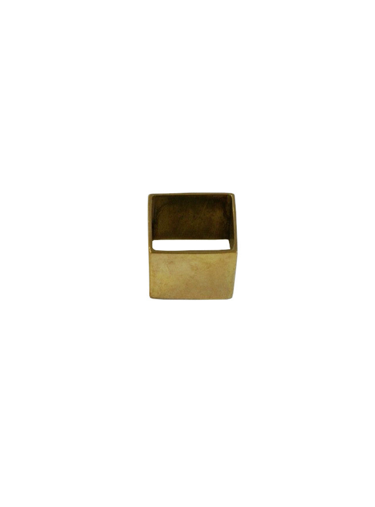 Studio jux square ring in recycled brass