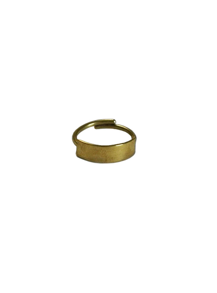 Studio jux bar ring in recycled brass