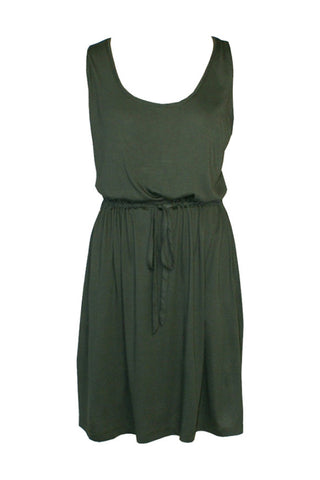 Sleeveless dress army green