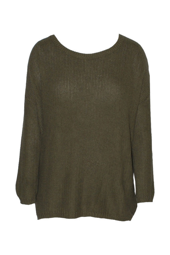 Studio Jux Sweater army green