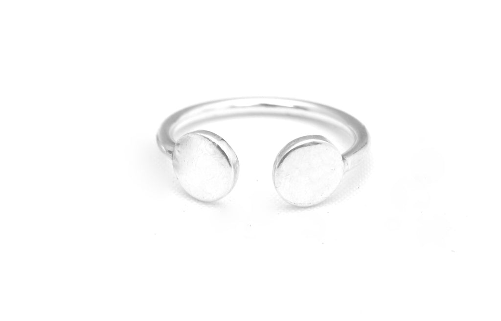 Luna ring silver from Charlie + Mary