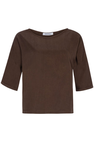 Rhumaa Band top brown t-shirt