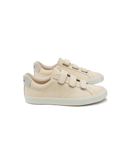Veja Women's 3-Lock Leather Mat Sneakers Sable Pierre
