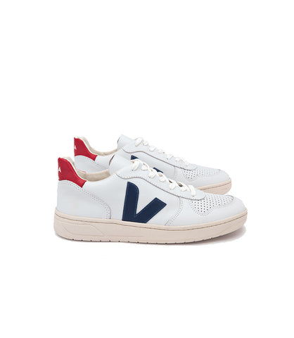 Men's V10 Leather Extra White Nautico Pekin Pierre