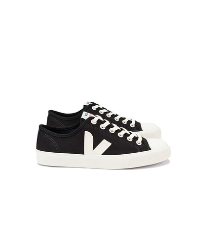 Veja Men's Wata Canvas Sneakers Black Pierre