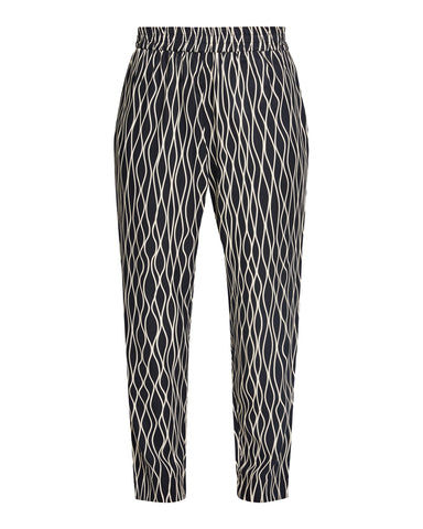 Aina Abstract Trousers Black