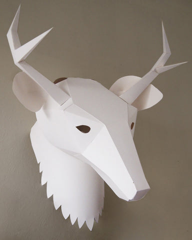 Soroche 3D folding paper head Deer mask