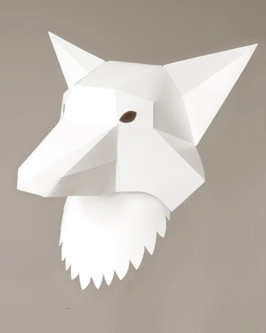 Soroche 3D folding paper head Fox mask