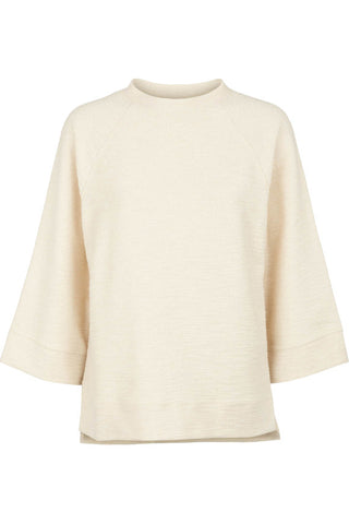 POPUPSHOP Canyon structured raw off white sweater