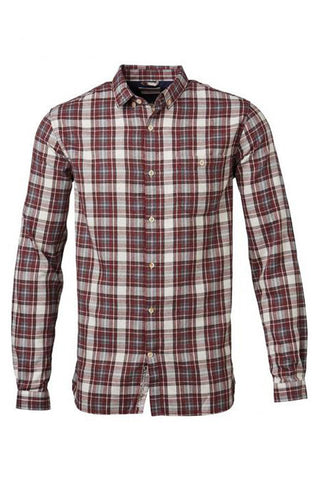Checked Flannel Shirt madder brown