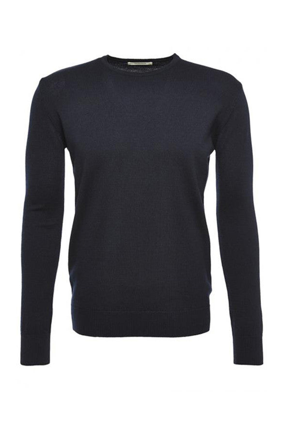 Core crewneck dark navy from Charlie + Mary