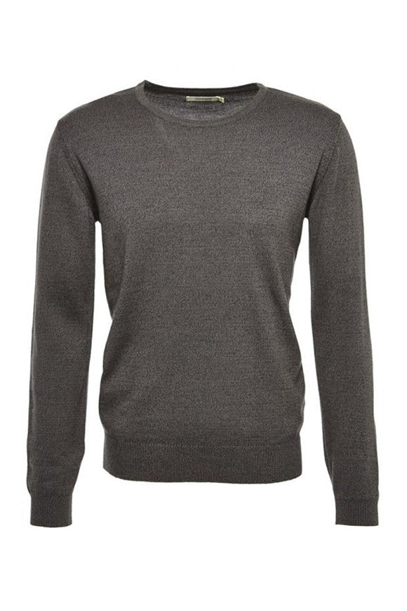 Core crewneck dark grey melange from Charlie + Mary