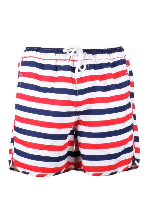Swim shorts liberty stripes white from Charlie + Mary