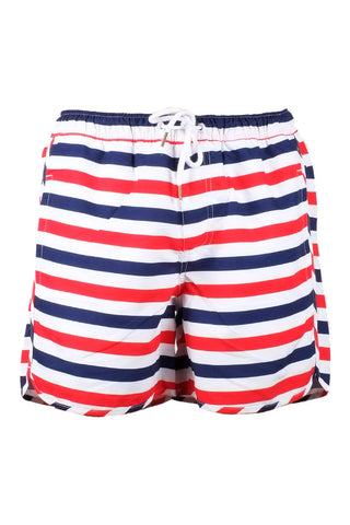 Dedicated swim shorts liberty stripes white