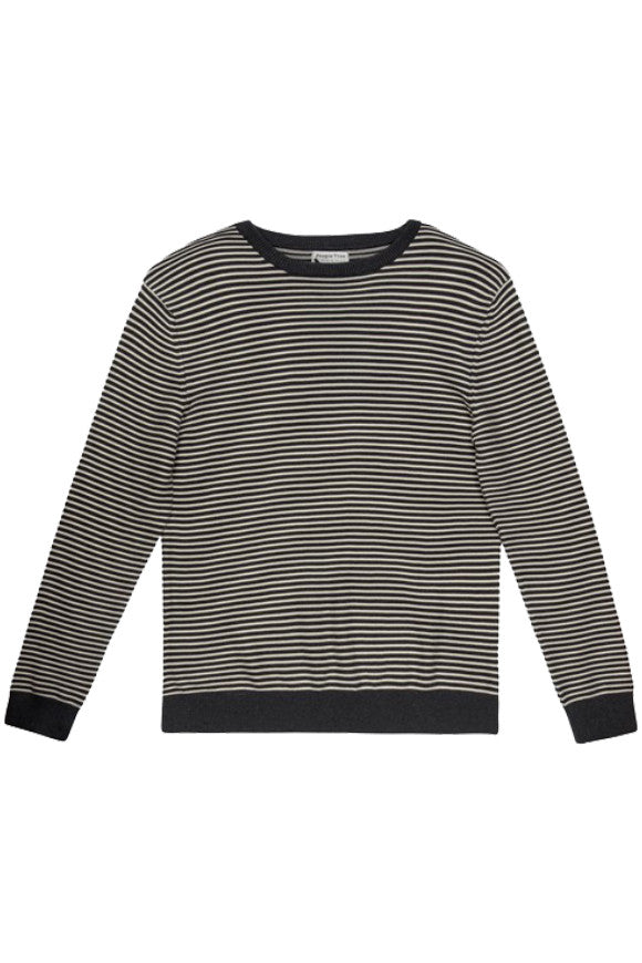 Enzo stripe jumper grey from Charlie + Mary