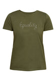 Equality Embroidered Tee Khaki
