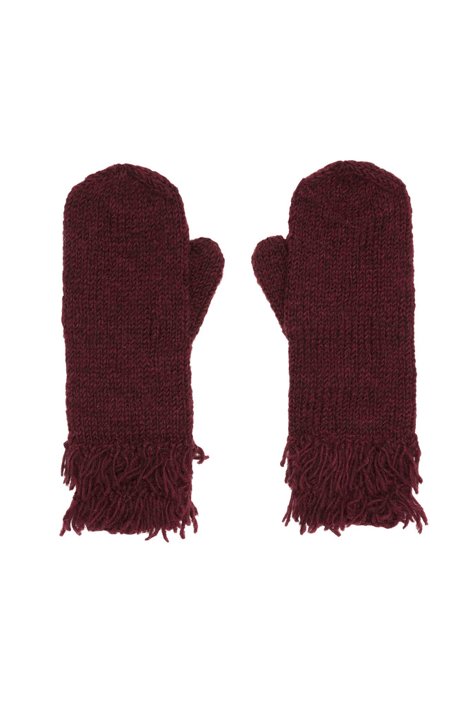 Fringed gloves Wine from Charlie + Mary