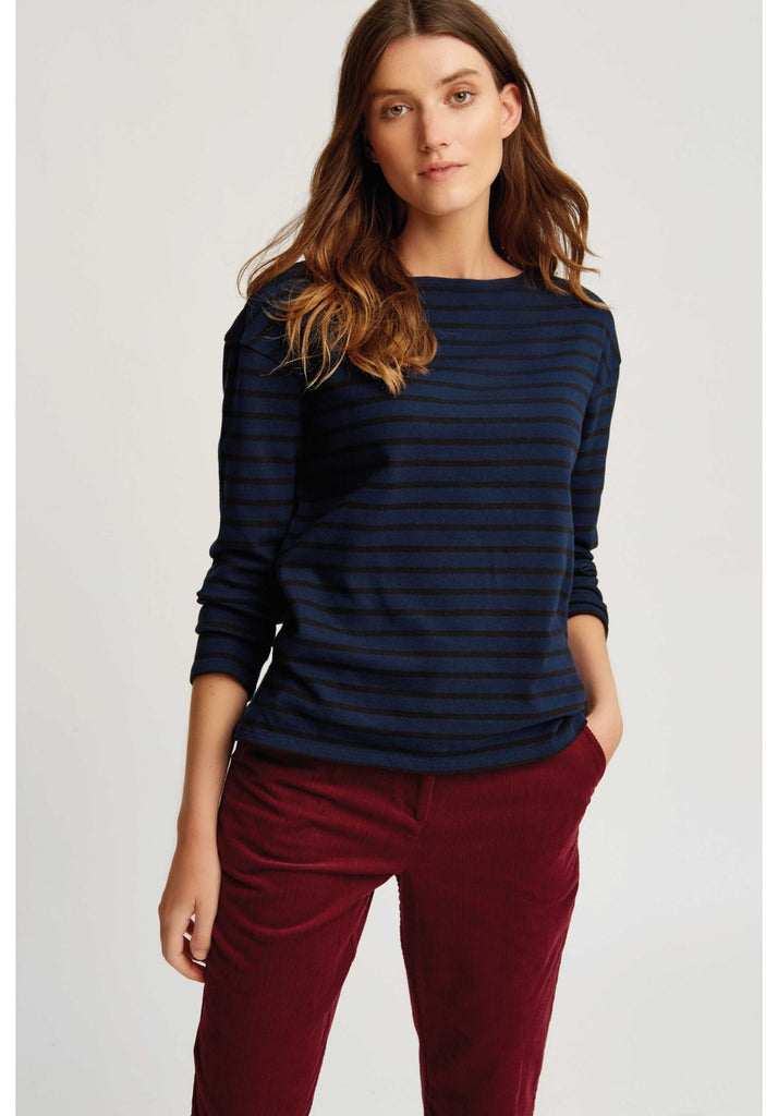 Gia stripe top Navy