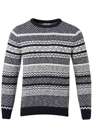 Jaquard Knit Cotton Sweater total eclipse