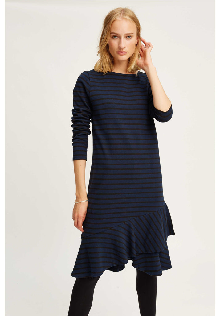 Kaya frill dress Navy from Charlie + Mary
