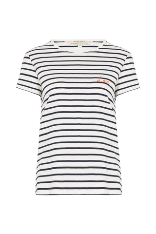 Love Tee Navy Stripe