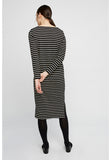 Lucille Stripe Dress Black and Cream