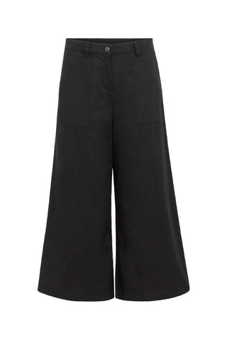 Lucinda cropped wide leg trousers black