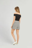 People Tree Maia stripe shorts black/white