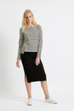 People Tree Marisa stripe sweatshirt black/white
