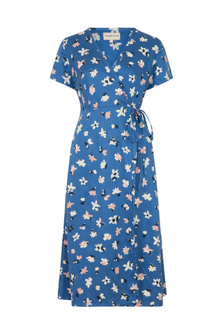Martina Floral Dress Blue Multi