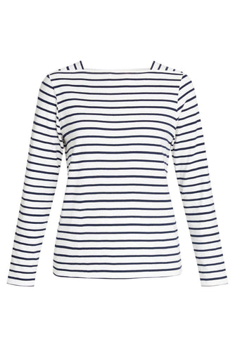 Mina Breton Top Navy Stripe