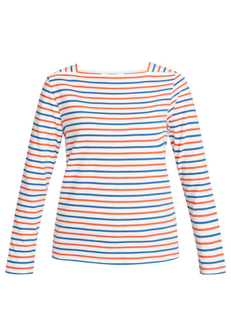 Mina Breton Top Red and Cobalt Stripe