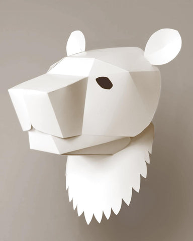 Soroche 3D folding paper head Bear mask