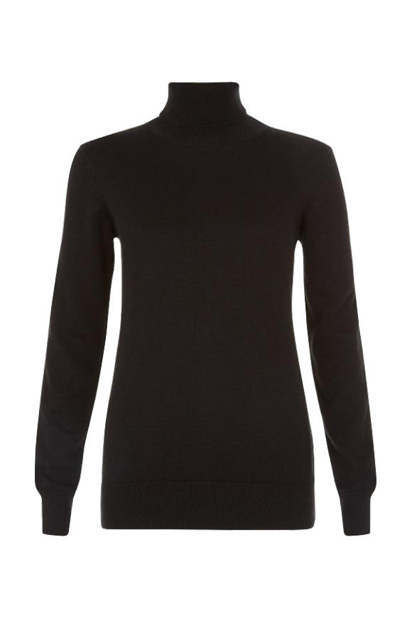 Rashida roll neck jumper black