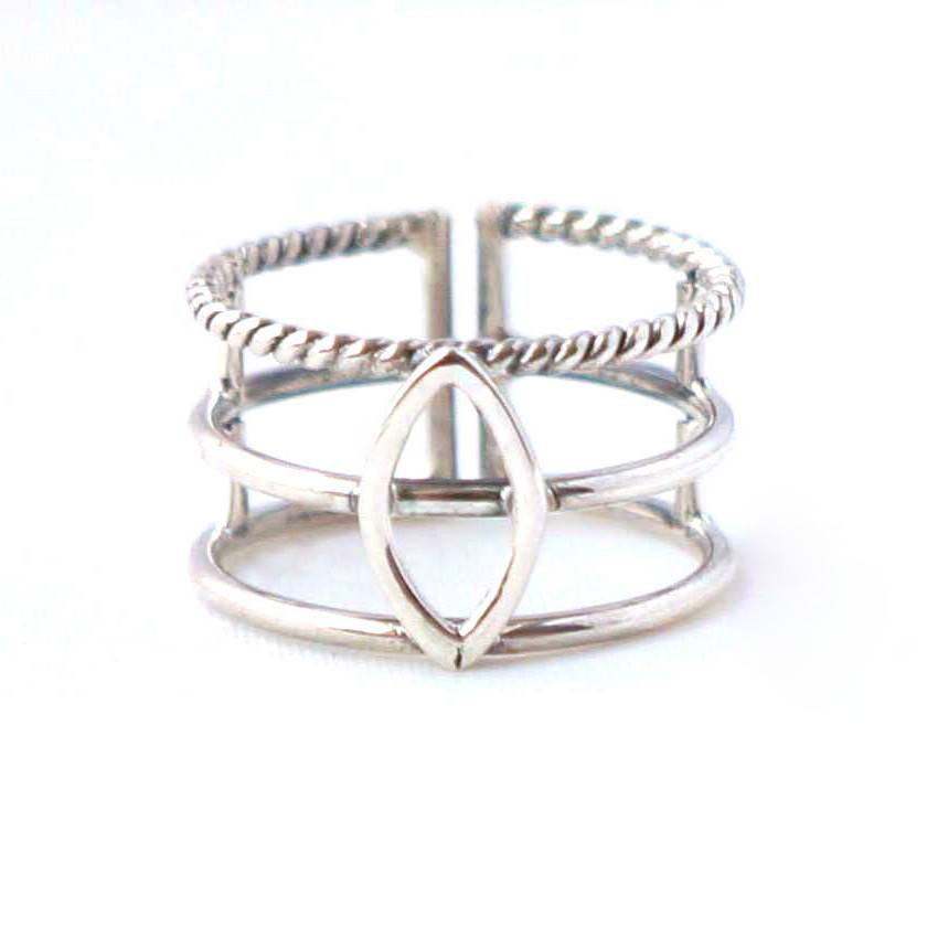 Gharcheen ring silver from Charlie + Mary