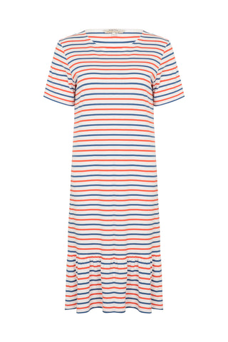 Selah Dress Red and Cobalt Stripe