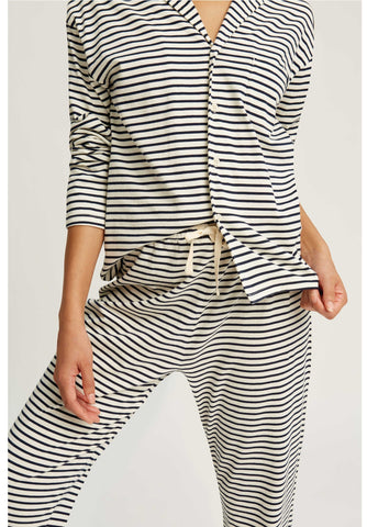 Stripe pyjama shirt Navy