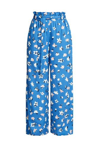 Susie Floral Trousers Blue Multi