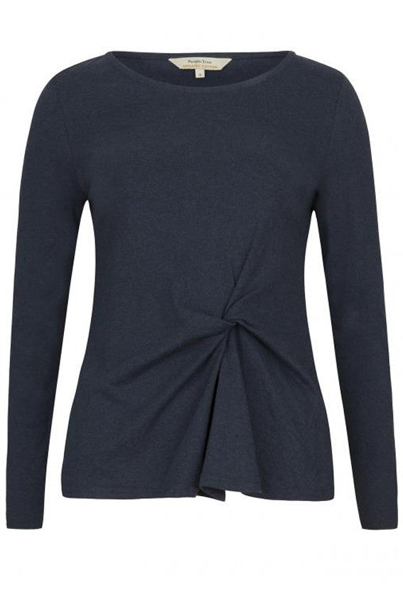 Taylor Twist Top Blue melange from Charlie + Mary