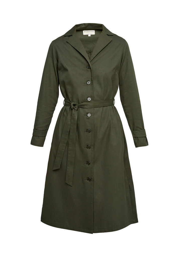 Tia Coat Dress Khaki
