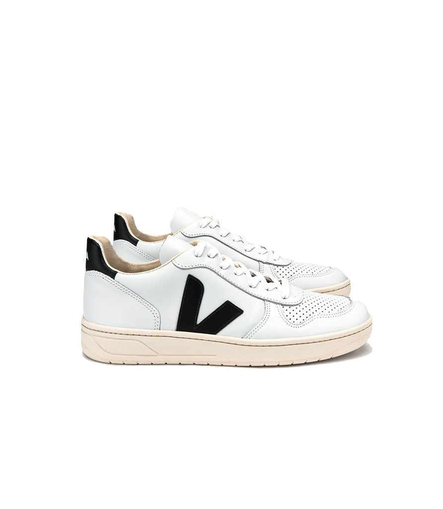 Men's V10 Leather Extra White Black from Charlie + Mary