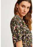 V&A Tulip print frill top Multi Coloured